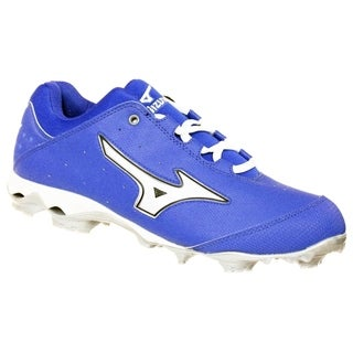 Mizuno Womens 9 Spike Finch Elite Switch Softball Cleat Royal/White