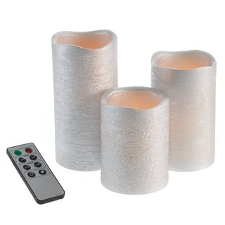 Link to Flameless LED Candles Pillar Candles 3 PC by Windsor Home Similar Items in Accent Pieces