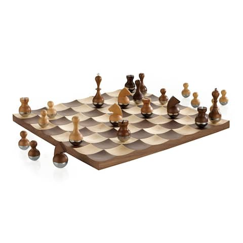 Umbra Wobble Walnut Chess Set
