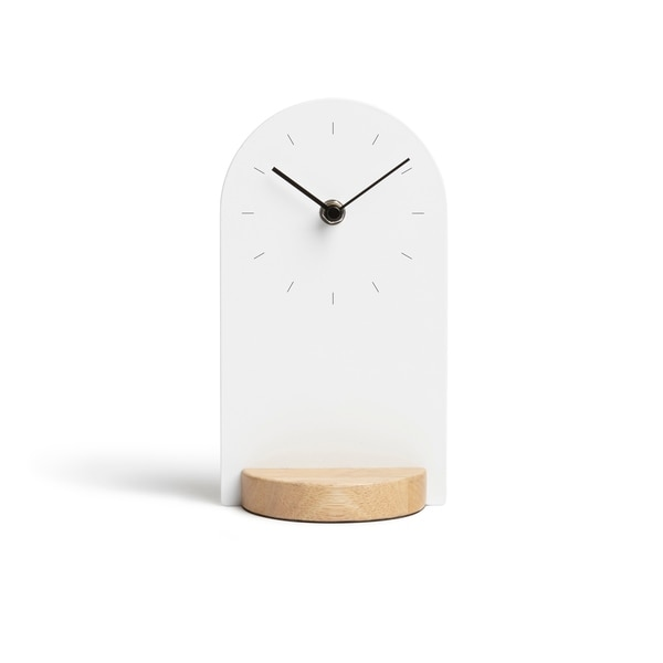 Umbra Sometime White/Natural Desk Clock by Umbra