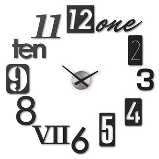 Umbra Numbra Wall Clock Black