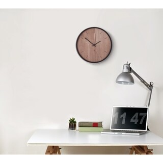 Umbra Madera Wall Clock 12-1/2 inches