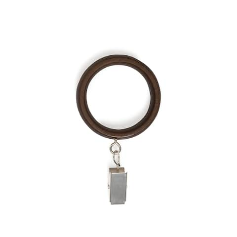 Umbra Wood Drapery Curtain Rings (Set of 7) - 1-1/4 diameter