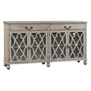 Hawthorne Estate Coventry Ash Pine 2-drawer 4-door Fretwork Sideboard