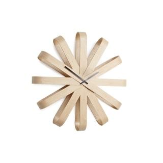 Umbra Ribbonwood Wall Clock 20-1/4 inches