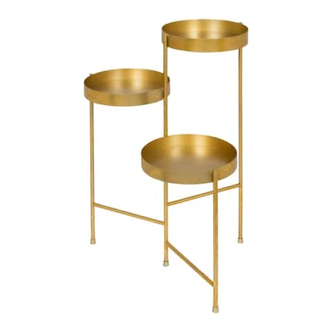 Kate and Laurel Finn Tri-Level Metal Plant Stand
