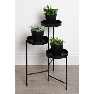 Kate and Laurel - Finn Tri-Level Metal Plant Stand