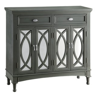 Park Avenue Grey MDF and Mirror 2-drawer Sideboard
