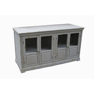 Lydia Pale Grey and Chicken Wire Sideboard