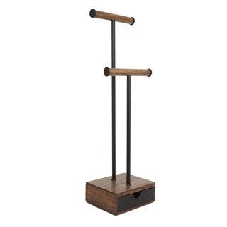 Umbra Pillar Black/Walnut Jewelry Stand