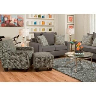 SofaTrendz Amanda Accent Chair and Accent Ottoman 2-pc Set
