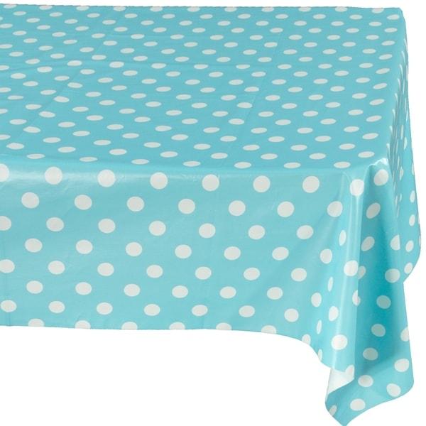 Berrnour Home Vinyl Polka Dots Design Indoor/Outdoor Tablecloth ...