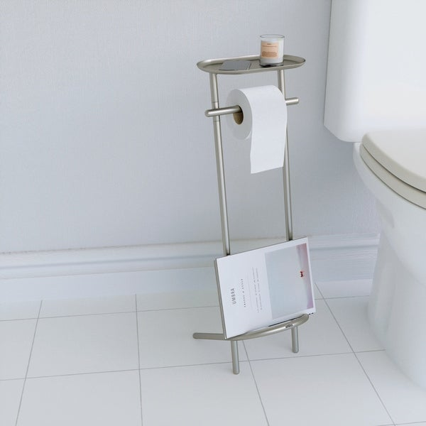 Umbra Valetto Nickel Toilet Paper Stand - Free Shipping Today ...