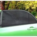 Zone Tech Car Side Window Stretchable Mesh Sunshade - 2-Pack Universal Fit Stretchable Protective Mesh Sunshade - Black
