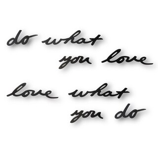 Umbra Mantra Do What You Love Black Wall Décor