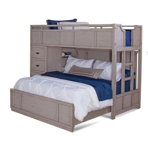 Parker Driftwood Twin over Full Loft Bed by Greyson Living