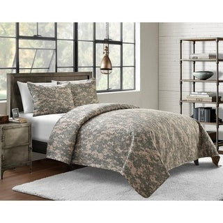 Microfiber Pinsonic Camouflage Quilt Set