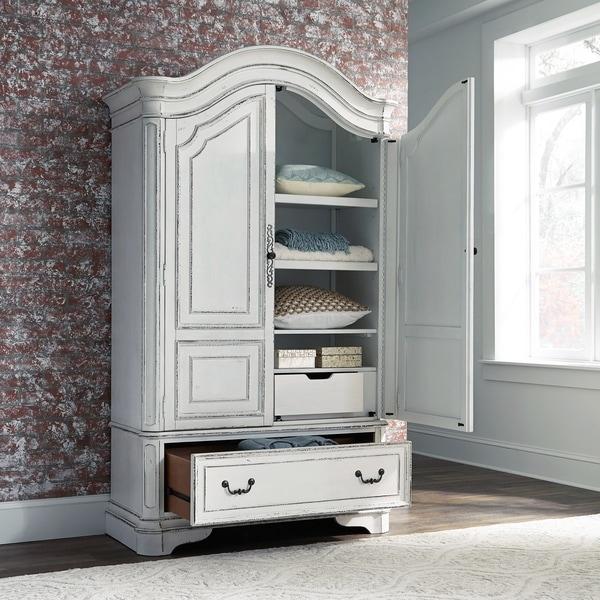 Antique White Armoire
