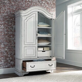 Magnolia Manor Antique White Armoire