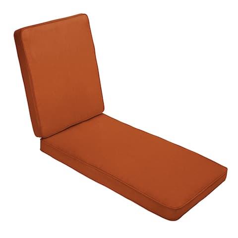 Sunbrella Rust Orange Indoor/ Outdoor Hinged Cushion - Corded