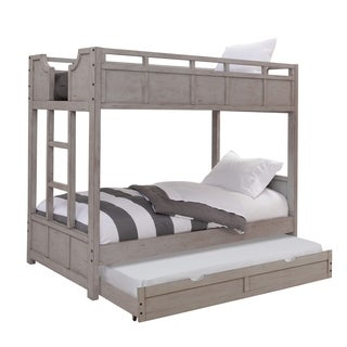 Parker Driftwood Twin over Twin Bunkbed with Trundle by Greyson Living