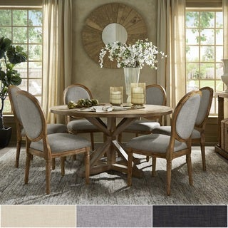 Deana Round Dining Set with Round Back Chairs by iNSPIRE Q Artisan
