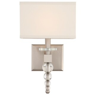 Crystorama Clover Collection 1-light Brushed Nickel Wall Sconce