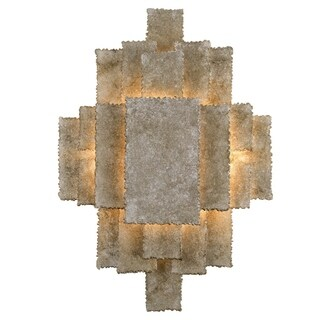 Crystorama Bronson Collection 2-light Oxidized Silver Wall Sconce