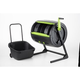 RSI-MAZE Two Stage Compost Tumbler With Cart