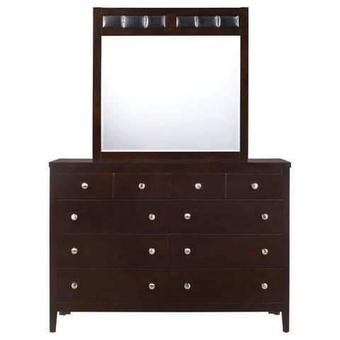 Picket House Furnishings Luke Dresser & Mirror Set - Black