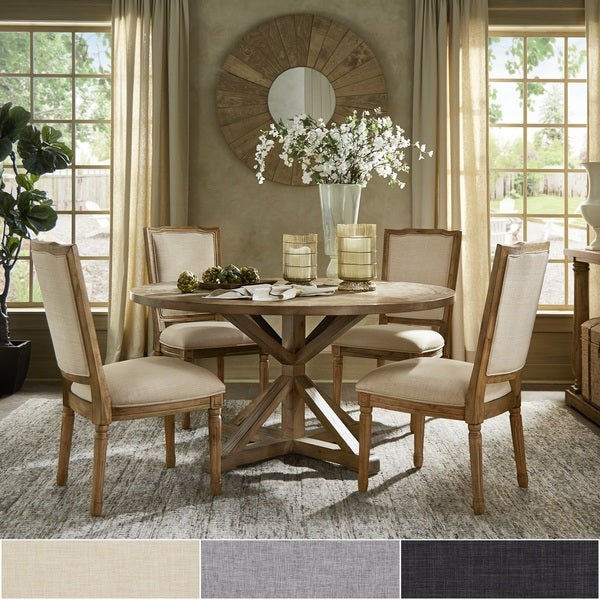 Deana Round Dining Set with Ornate Back Chairs by iNSPIRE Q Artisan. Opens flyout.