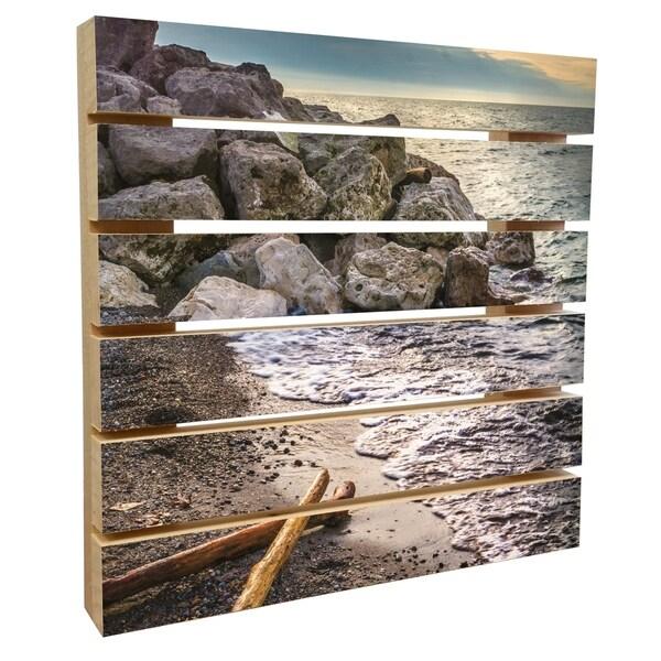 Exceptional Pallet Art Part - 3: ArtWall Mike Beach U0026#x27;Euclid IIIu0026#x27; Wood Pallet Art