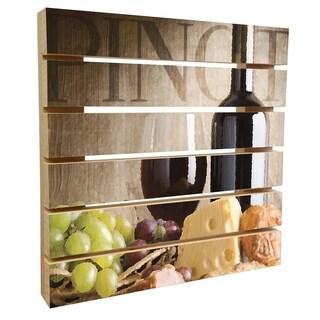 ArtWall Scott Medwetz 'Pinot Noir Wine' Wood Pallet Art