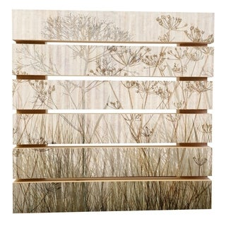 ArtWall Cora Niele 'Wildflowers Ivory' Wood Pallet Art