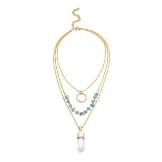 Handmade Indira Crystal Cascade Necklace (India)