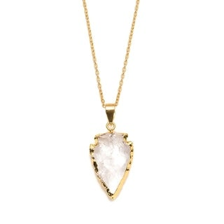 Handmade Abbakka Arrowhead Necklace - Crystal (India)