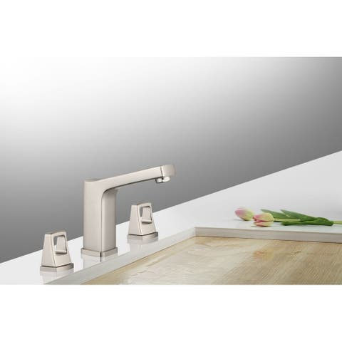 8 in. Widespread 2-Handle Bathroom Faucet with Push Down Pop-Up Drain in Brushed Nickel