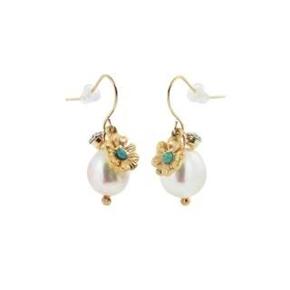 Eternally Haute Flower & Pearl Drop Earrings