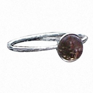 Handmade Recycled Antique Pink Depression Glass Dishware and Sterling Silver Stacking Ring (United States)