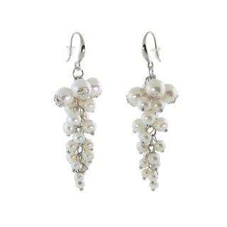 Eternally Haute Pearly White Drop Earrings