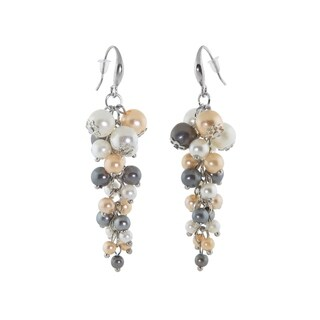 Eternally Haute Tri Colored Pearl Drop Earrings
