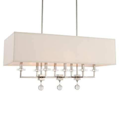 Paxton 8-light Polished Nickel Linear Chandelier