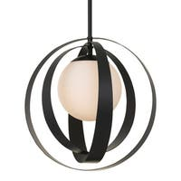 Crystorama Arlo Collection 1-light Matte Black Chandelier
