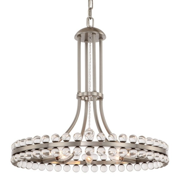 Crystorama Clover Collection 8-light Brushed Nickel Chandelier