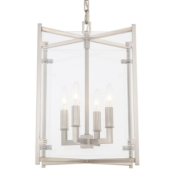 Crystorama Danbury Collection 4-light Brushed Nickel Chandelier