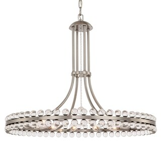 Crystorama Clover Collection 12-light Brushed Nickel Chandelier