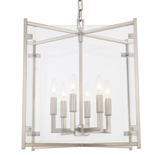 Crystorama Danbury Collection 6-light Brushed Nickel Chandelier