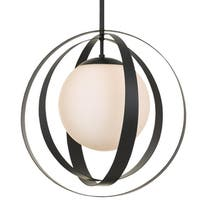 Crystorama Arlo Collection 1-light Matte Black Chandelier