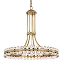 Clover 8-light Aged Brass Chandelier