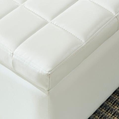 Winston Faux Leather Storage Ottoman